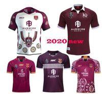 Nuevo QLD MAROONS 2019 Inicio Slater Rugby Jerseys Smith Nrl Rugby League Jerseys 2020 Indígena Camisa de Rugby Australia Retro Jersey