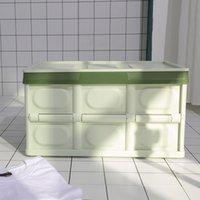 Складная машина для хранения автомобиля многофункциональный пластмассный орган Организатор зеленый синий черный цвет домохозяйственные контейнеры 30л большая емкость 2