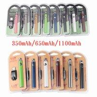 510 fil de la batterie Préchauffage Vape Pens batterie 350 650 1100mAh Tension variable 510 cartouches de batterie Vertex E Cigarettes Batteries vapes
