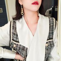 Кольцевые длинные стиль ушные подвески леди сплав большие ушевления позолоченные женщины женские модные аксессуары высокое качество 1 8sfk p2