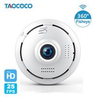 카메라 1.3MP HD 360도 보안 카메라 WiFi Fisheye IP 파노라마 960P 양방향 오디오 홈 CCTV 야간 비전