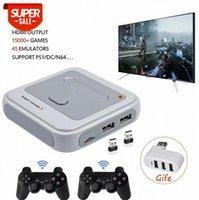 Uscita HD Super TV Video Game Console X per PS1 / N64 / DC 50+ Emulatori 40000+ Giochi all'interno S905M Wired Gamepad wireless # QF95