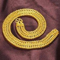 Навсегда не выцветает 24K золотое ожерелье для женщин точные нашинские воротники цепные ювелирные изделия Bijoux Femme Colgante Plata Ley Mujer1