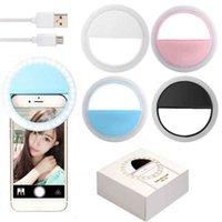 LED Selfie'nin Halka Işık Cep Telefonu Dolgu Işıklar RK12 USB Şarj edilebilir Taşınabilir Selfie'nin Lamba Klip Telefon Smartphone Güzellik Işıklar