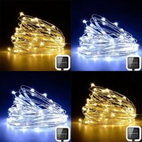 태양 정원 조명 문자열 100 LED 10m 야외 크리스마스 장식 스트립 조명 구리 와이어 지상 플러그 요정 조명 2 모드 새로운 13 9LS G2
