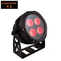 GIGERTOP NOVO MINI 4 X 18W RGBWA UV 6IN1 Cor Impermeável LED PAR Luz IP65 Design ao ar livre DMX Controle de Controle Iluminação