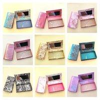 New False Eyelash Packaging Box Eyelashes Lash Case Empty Eyelashes Packaging Box with Mirror Extension Provide Print logo