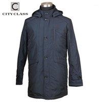 Männer Jacken City Class Mode Frühling Herbst Männer Jacke Mantel Lange Design Business Casual Coats Reißverschluss Abnehmbare Kapuze für Männchen 90071