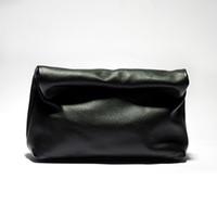 HBP Candy Color Кожаная маленькая группа кошелек личности ленивый повседневная клавик ручной сумка верхний слой слой коровьей обед женская мягкая сумка черная