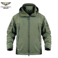 Shark Skin Military Tactical Jacket Hommes Camouflage Windbreaker Hood Hood Hood Jacket Mâle Hiver Coat