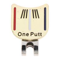 Pelota de golf marcadores magnéticos una moneda del putt la bola marca de posición Señal sombrero del golf del clip del regalo de la herramienta del Divot Hombres Mujeres Niños