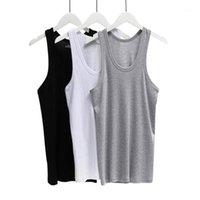 Mens Undershirt Katoenen Tops O-hals 3 stks / partij Ondergoed Transparante Shirts Mannelijke Fitness Worstelen Singlets LXL XXL XXX1