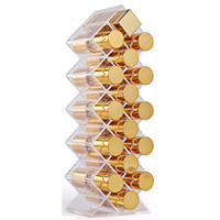 16/10/28 Grids Cosmetic lápiz labial caja de joyería caja de lápiz labial caja de almacenamiento acrílico maquillaje organizador caja de almacenamiento