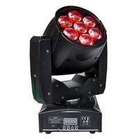 DMX 16 Kanal Zoom'u Karıştırma Kafası Yakınlaştırma Işık Mini Boyut 7x12W Yüksek Güç RGBW 4IN1 Renk Hareketli TIPTOP 1PCS 95W LED sahne ışık led