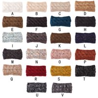 22Colors Hairband Colorful Knitted Crochet Twist Headband Winter Ear Warmer Elastic Hair Band Wide Hair Accessories Free DHL