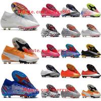 2021 Üst Erkek Futbol Cleats Mercurial Vaporx 13 Superfly 7 Elite SE AG Futbol Ayakkabı CR7 Neymar Ronaldo Futbol Çizmeler Scarpe da Calcio