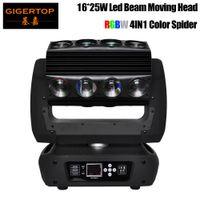 gigertop Yeni Tasarım Mirage Led Head Light 16 * 25W RGBW 4IN1 3 Derece Işın Açısı DMX 18/30 / 82CH Led Örümcek Işık Hareketli