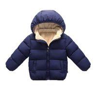 Baby Girls Boys Simple Jackets Детские Утолщение мягкой пальто Малыша Верхняя одежда Одежда детские Теплые куртки для девочек 1-5Y LJ201017
