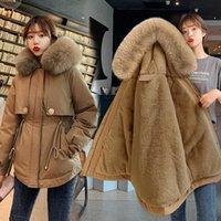 Designer womens down winterjacke mantel wintermantel frauen parka mantel lässig mit kapuze pelzkragen kurz gepolstert