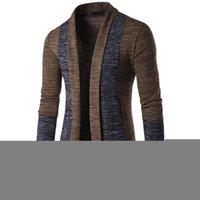 Мода ежедневно, повседневная мужская длинная рукава панель осень зимний свитер кардиган вязаный трикотаж пальто куртка толстовка 18 до 13