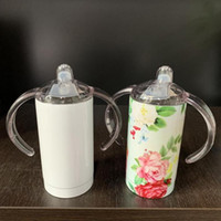 12oz Sublimation blank sippy cup with lid baby cup kids Wate...