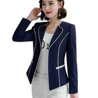 Frauenanzüge Blazer QJ Cinga Frauen Elegante Binding Jacke Langarm Blazer Mode Arbeit Tragen Halten Sie Slim Büro Dame Mantel Outwear Single