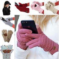 15 Цвета CC Трикотажные перчатки Человек женщина Твердая зима теплая Портативный перчатки спорта на открытом воздухе Пять пальцев перчатки для сенсорных экранов
