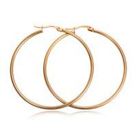 Orecchini a cerchio del cerchio rotondo in acciaio inox ad alta lucidato in acciaio inossidabile a tubo rotondo orecchini a cerchio rotondo per uomo Big clip su orecchini a cerchio