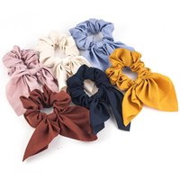 New Women Spring Summer Soild Headband Vintage Knot Elastic Hair Bands Soft Solid Girls Hairband Hair Accessories Wholesale