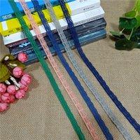 Ширина 1 см S1166 Colorul растягивающая эластичная кружевная лента из атласных многоцветных кружевной отделки одежды для DIY одежда шитья кромки и ручной работы
