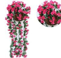 Toptan 1 adet Yapay Çiçekler Düğün Dekorasyon için Ucuz İpek Yapay Çiçekler Ev Garland Sahte Asılı PLA SQCZLN HOMES2007