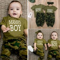 Summer Newborn Toddler Baby Boy Girl Outfit Clothes T-shirt Tops Camo Pants Set1