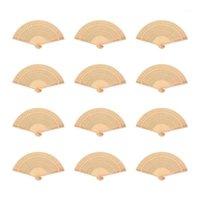 12 шт. Складные поклонники ароматные полые винтажные китайские декоративные сандаловые деревянные вентиляторы подарки классические ароматные древесины1