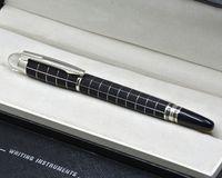 Penna a sfera a rulli in metallo nero di alta qualità con cristallo Head School Office Cancelleria Fashion Scrivi a sfera penne regalo
