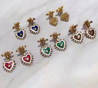 Модные серьги в форме сердца, подходящие для дам День Святого Валентина подарок пчел серьги ювелирные изделия бесплатная доставка