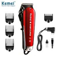 Neue heiße Kemei Professionelle Haarschneider Elektrische Schnurlose Haarschneider LED KM-2611 Haarschneider Kohlenstoffstahl Blade Friseur Machine