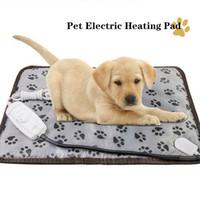 ペット電気暖房パッド猫犬の毛布耐久の防水ペットベッド冬季暖かいパッドホームオフィスチェア加熱マット45x45cm 201223