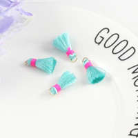 30pcs 1. 5cm Mini Polyester Thread Tassel Pendant For Jewelry...