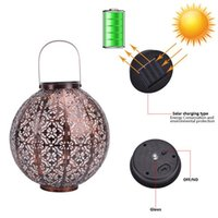 LED Sombrero de paja Lámpara Beads Luz solar Control de luz de inducción automática Lámpara de decoración de jardín al aire libre impermeable Jardín Retro Lámpara de hierro Batería C