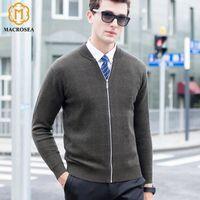 MACROSEA 100% MERINO шерсть мужская клетчатая клетчатая мужская мужская молния формальный бизнес свитер пальто классический дизайн мужская шерсть кардиган1