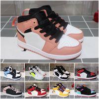 Nike Air Jordan 1 도매 어린이 신발 J 1 1s 저렴한 매장 최고 품질의 어린이 농구 신발 가격 무료 배송 판매 28-35
