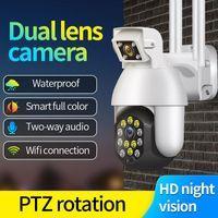 1080P PTZ Câmera IP Wifi Exterior Speed Dome Wireless WiFi Segurança Camera Pan Tilt Zoom Digital 4X 2MP Rede de Vigilância CCTV