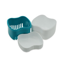 Caixa de armazenamento de dentes falsos simples com lixeira camada plástica multicolor dentário caso limpeza recipiente de dente venda quente 2 2xya e1