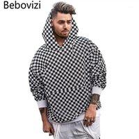 BEBOVIZI KACHERBOARD-Plaid Hoodies Herren Herbst Winter Sweatshirts Streetwear Hip Hop Casual Cotton Pullover Skateboard Hoodie1