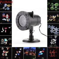 Christmas Projector Laser Light 12 Replaceable Lens 12 Colorful Patterns Night Light Wedding Fairy Garden Lawn Lamp Landscape Laser Lighting