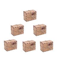 Regalo envoltura kraft papel cuadrado marrón caramelo caja de aire viaje tema arco decoración boda baby shower niños favor embalaje ornamento