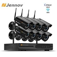 JENNOV 1080P نظام أمن الوطن كاميرا NVR WIFI Wireless 8ch 2MP كاميرا مراقبة فيديو CCTV كيت IP66 في الهواء الطلق P2P