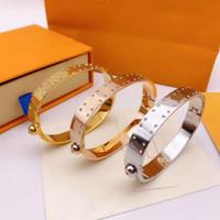 Braccialetti di modo braccialetto di diamanti per uomo donna braccialetto braccialetto di monili 3 colori superiore Bangles con la scatola