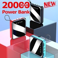 20000mAh Mini Power Bank External Battery Digital Display 2 USB Portable Dual LED Lighting Fast Charger Phone Battery Free Shipping