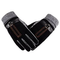 2020 Winter Men' s Warm Gloves Genuine Suede Pig Leather...